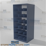 Steel shelving designed for rolled posters and Blueprint storage