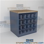 Drafting Storage Rack Rolled Plan Shelving Counter High Work Table with Cubbyholes