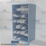 Adjustable shelving designed for Blueprint storage