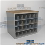 Work Counter with Blueprint Storage Cubbies Rolled Architect Construction Plans