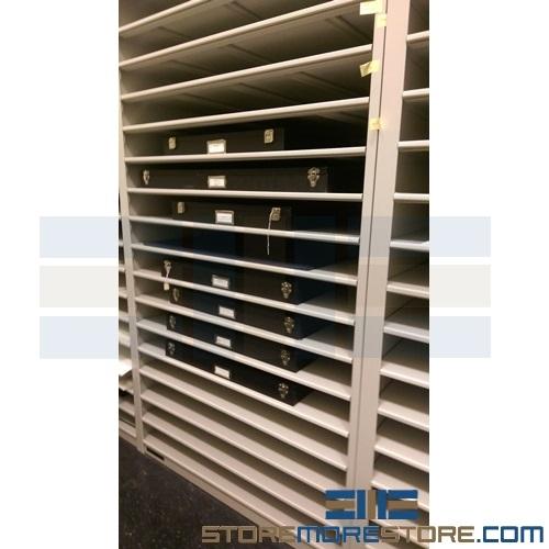Large Shelves For Flat Hollinger Boxes Archival Storage