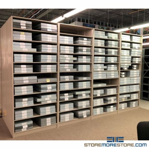 free shipping on Large Shelves For Flat Hollinger Boxes  sc 1 st  StoreMoreStore & Large Shelves for Flat Hollinger Boxes Archival Storage Mat Foam ...