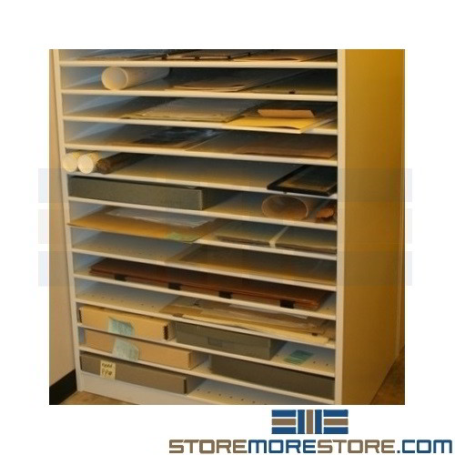 Large Shelves For Flat Hollinger Boxes Archival Storage
