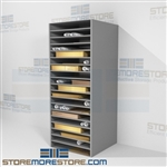 Blueprint flat shelf storage racks designed to keep architect plan drawings flat without the need of being rolled this shelf features multiple levels of adjustable shelves the depth of the shelf allows large documents either flat on shelf or in boxes