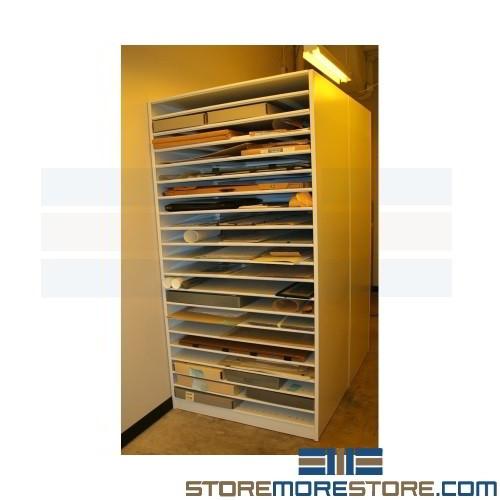 Racks For Art Portfolio Cases Large Shelves For Acid Free