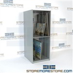 Art paintings storage racks and shelving for canvases framed artwork stored in a vertical and upright position to organize, ventilate, and protect valuable fine art for unused artwork for businesses, companies, galleries, and studios.