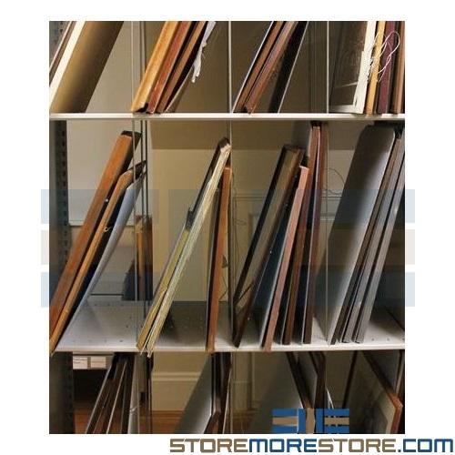 Framed Art Racks How To Store Fine Artwork Adjustable Steel Shelving