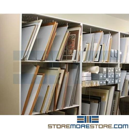 free shipping on Vertical Artwork Storage Rack  sc 1 st  StoreMoreStore & Vertical Artwork Storage Rack Storing Framed Paintings Fine Art ...