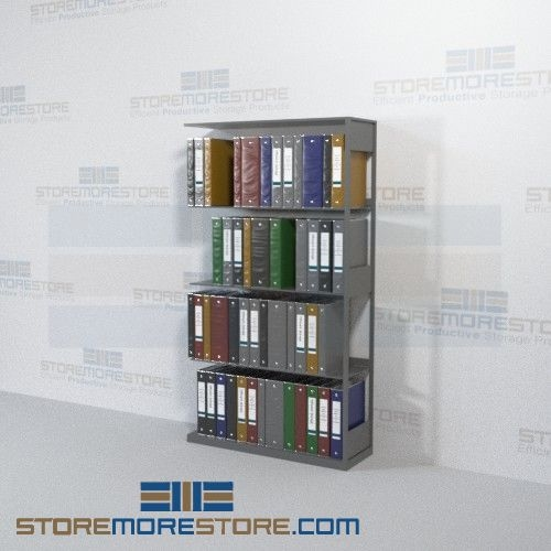 storage shelving medical office racks binder storage 4 openings
