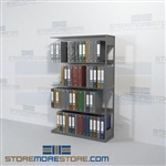 Open Metal Wall Shelving Office Racks Adder Unit Four Levels Wall Unit