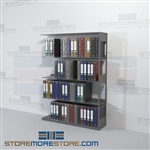 Office Partition Height Binder Shelving Adder Unit Four Levels Wall Unit