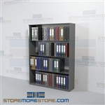 Medical Chart Binder Office Racks Storage Shelves Four Levels Wall Unit