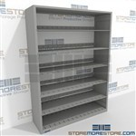 Flexible office shelving Letter Size Steel Storage Shelving 7 Shelves High