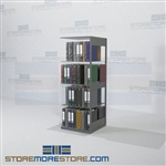 "Office Partition Binder Racks Boltless Shelf Unit Double Sided 24"" Wide"