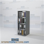 "Adjustable Metal Office Shelving Binder Storage Racks Double-Sided 64"" High"