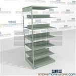 Double Sided Office Cubical Steel File Shelves Steel Adjustable File Shelving