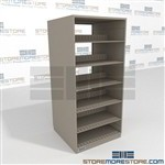Legal Office Shelving Boltless Storage Racks Double Entry