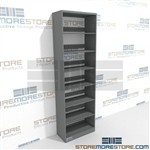 Adjustable Metal File Shelving Steel 8 Shelf Single Sided Starter Shelving