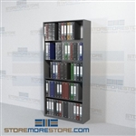 Notebook Storage Binder Shelving Office File Racking 5 Openings Wall Unit