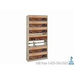 "File Shelving In-A-Box Single Sided Starter Wall Unit - 36"" Wide x 12"" Deep x 76-1/4"" High, 8 Shelves, 7 Openings, #SMS-19-761236-S7P"