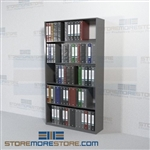 Open Rack Shelving Notebook Storage Metal Wall Unit 5 Levels