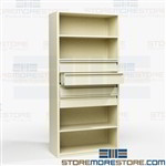 Shelving with Drawers for Small Office Supplies DVD CD Storage Cabinets Racks