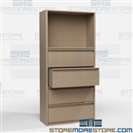 File Drawer Shelving Folders Binders Supplies Storage Shelves Cabinet Racks