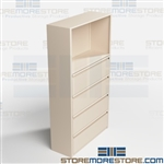 Filing Drawers with Binder Shelves Above Box Storage Office Supplies Multiuse