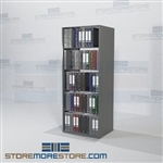 "Medical Office Record Filing Open Shelving Binder Storage 30"" Wide"