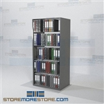 "Storage Filing Office Shelving Notebook Racks Wall Unit 5 Levels 76"" High"