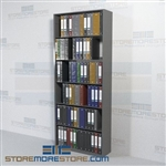 Adjustable Office Racking Steel File Storage Starter Wall Unit 6 Levels