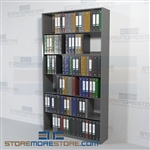 Office Racks Binder Shelving Storage Pockets Chart Filing 6 Levels Wall Unit