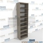 File Storage Shelves Adjustable Single Sided Wall Racks