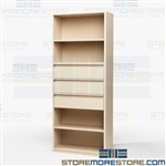 Shelving with Roll-out Drawers Storing Supplies Steel Combination Office Storage