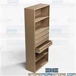 Steel Drawers in Shelving Office Storage Supplies Books Binders Boxes Metal Rack
