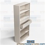 Office Shelves with Drawers Steel Shelving Cabinets Multipurpose Combination