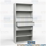 Metal Supplies Storage Drawers Shelving Cabinet Multipurpose Office Binders Books
