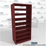 Single Sided Medical Office Record File Shelving Four Post Steel Shelving