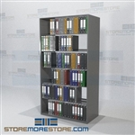 "Storage Shelving Open File Racks Document Racks 6 Openings 88"" High"