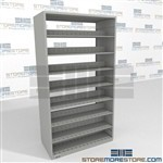 "Business Open Storage Shelving Steel Double Sided 48"" Wide File Room Shelving"
