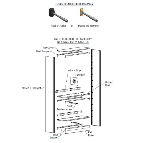 Metal Shelving Medical Chart Binder Open File Shelf 24