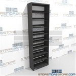 Adjustable Single Sided Starter Shelving Metal File Room Organization Shelving