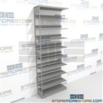 "Office File Racks Metal Shelving 36"" wide Metal Letter-sized Wall Shelving"