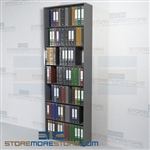 Steel Closed End Panels Shelving Document Filing Storage unit 7 Levels Wall Unit