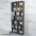 Binder Storing Shelves Adjustable Single Sided Office Racks 7 Openings