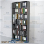 Adjustable File Pocket Document Shelving Letter File Storage 7 Levels Wall Unit