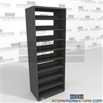 "Double Sided Shelving Unit 97"" High Metal Letter Sized File Shelving"