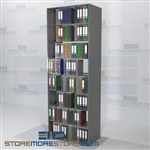 "Double Depth Storage Units Adjustable Filing Racks 7 Levels 97"" High"