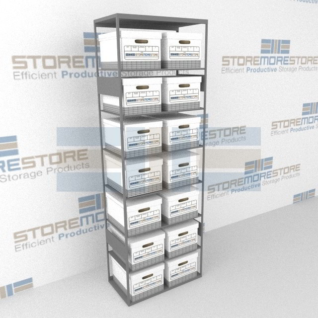 Alternative Views  sc 1 st  StoreMoreStore & Box Shelving | Record Box Storage | Storing File Boxes on Steel ...