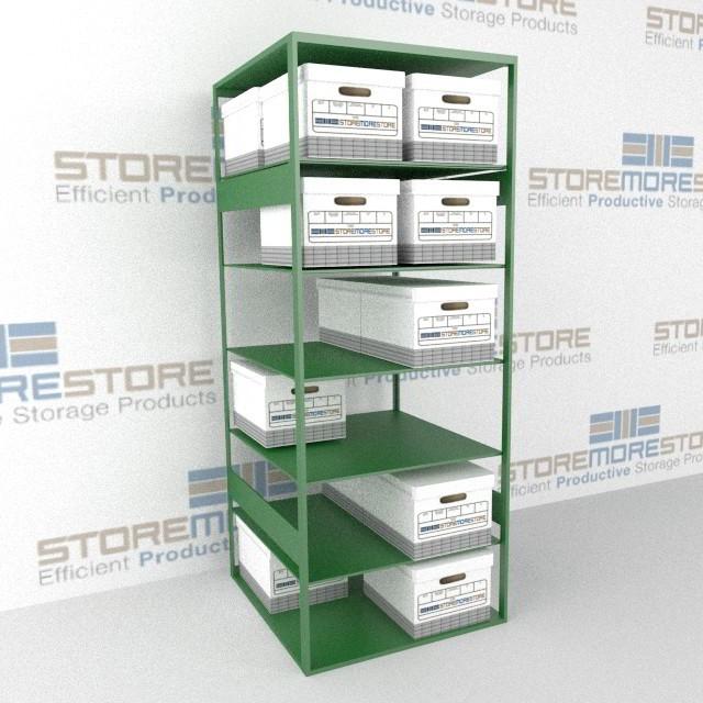 filing box storage file box shelves storing record file boxes on rh storemorestore com Bankers Storage File Box Shelves Banker Box Shelving